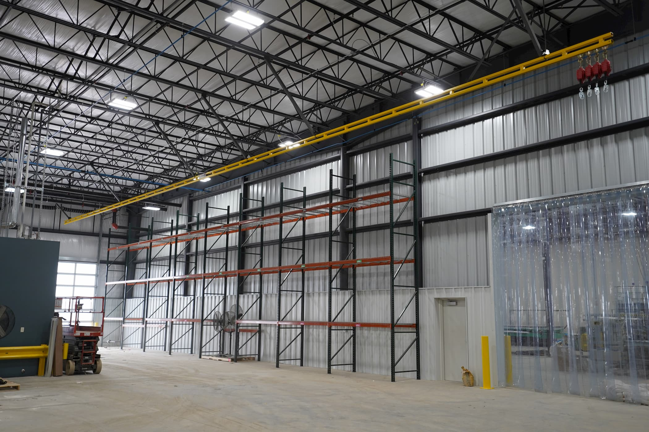 Fall Protection System That Is Ceiling Mounted