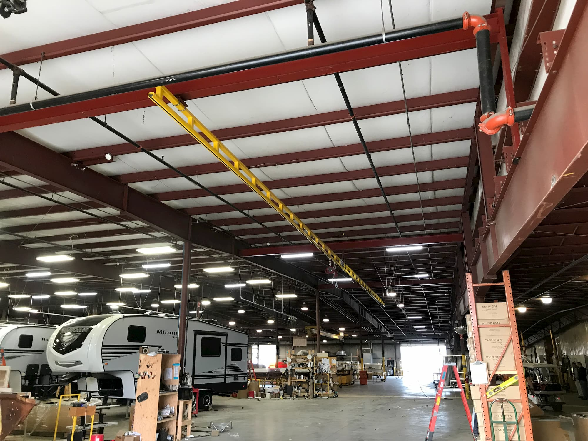 Fall Protection System in Manufacturing Plant