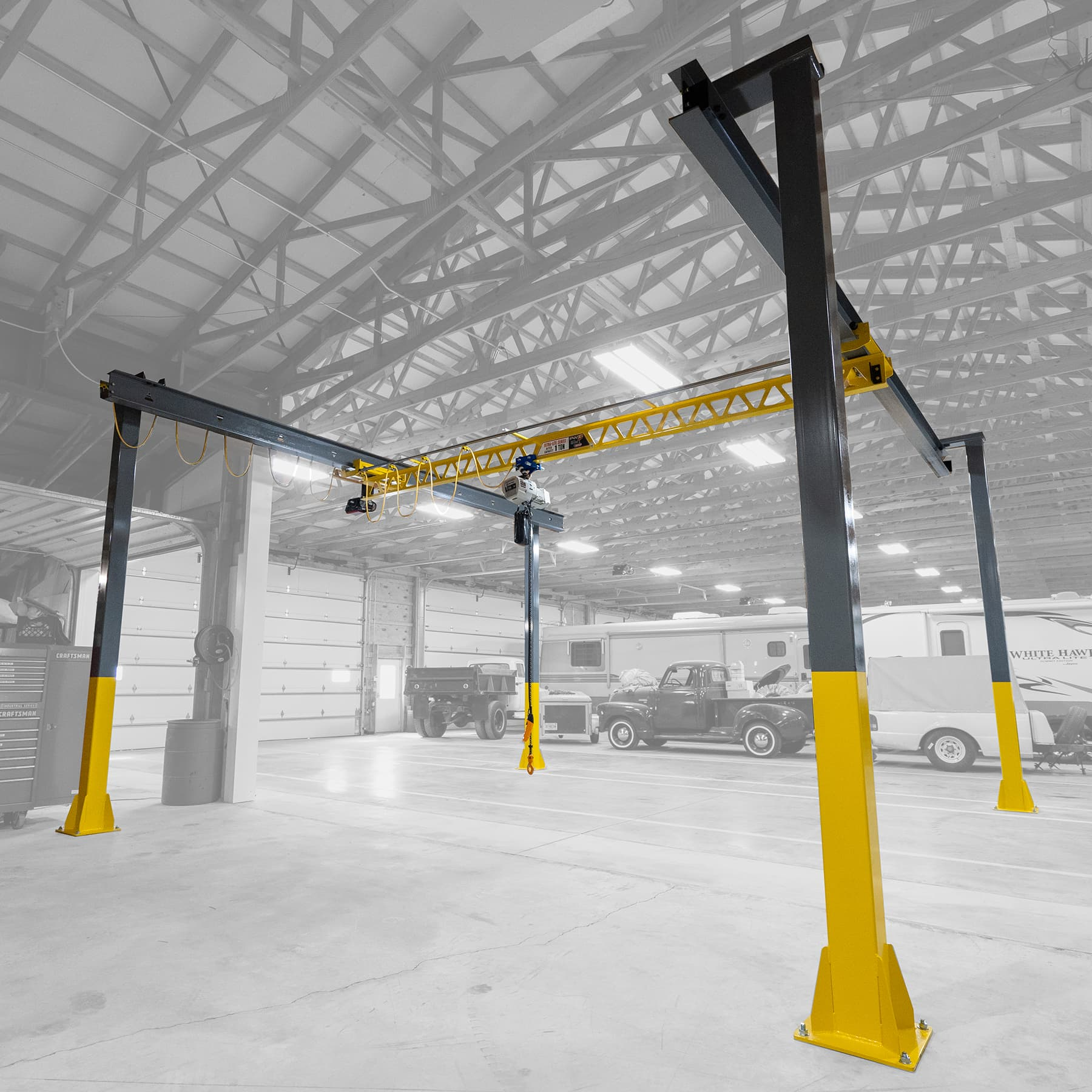 Freestanding Workstation Cranes