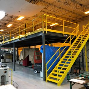 Mezzanine with Straight Matching Stairs