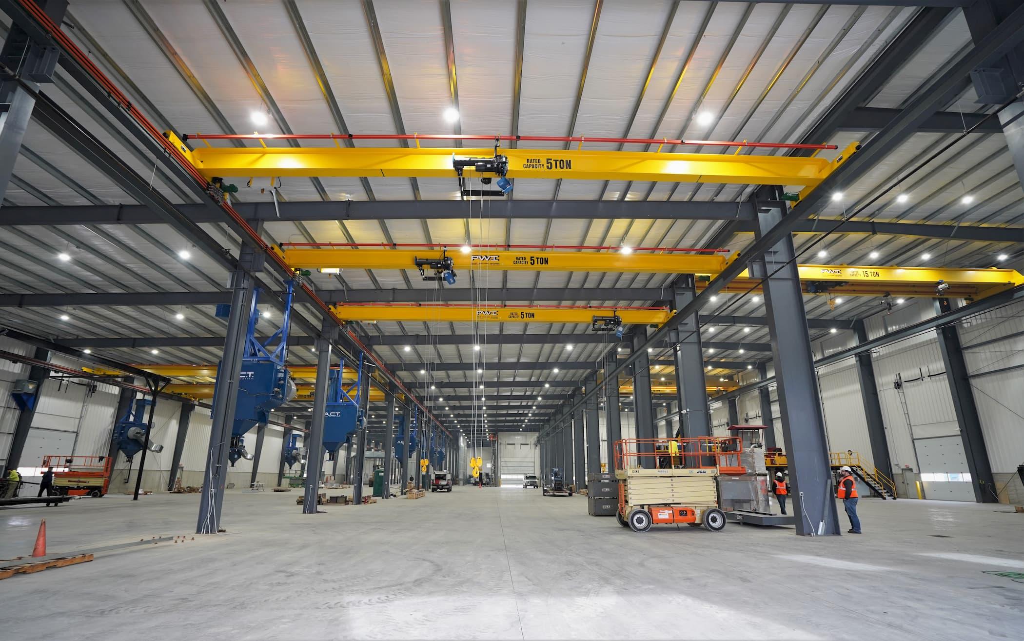 Multiple Overhead Cranes