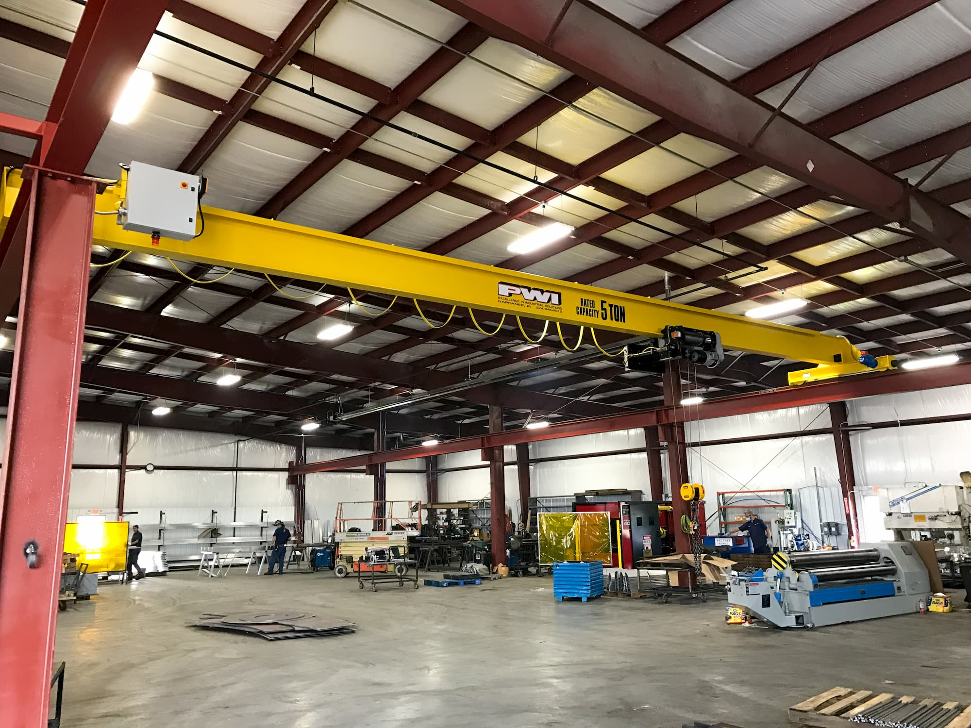 Overhead Bridge Crane with Wire Rope Hoist