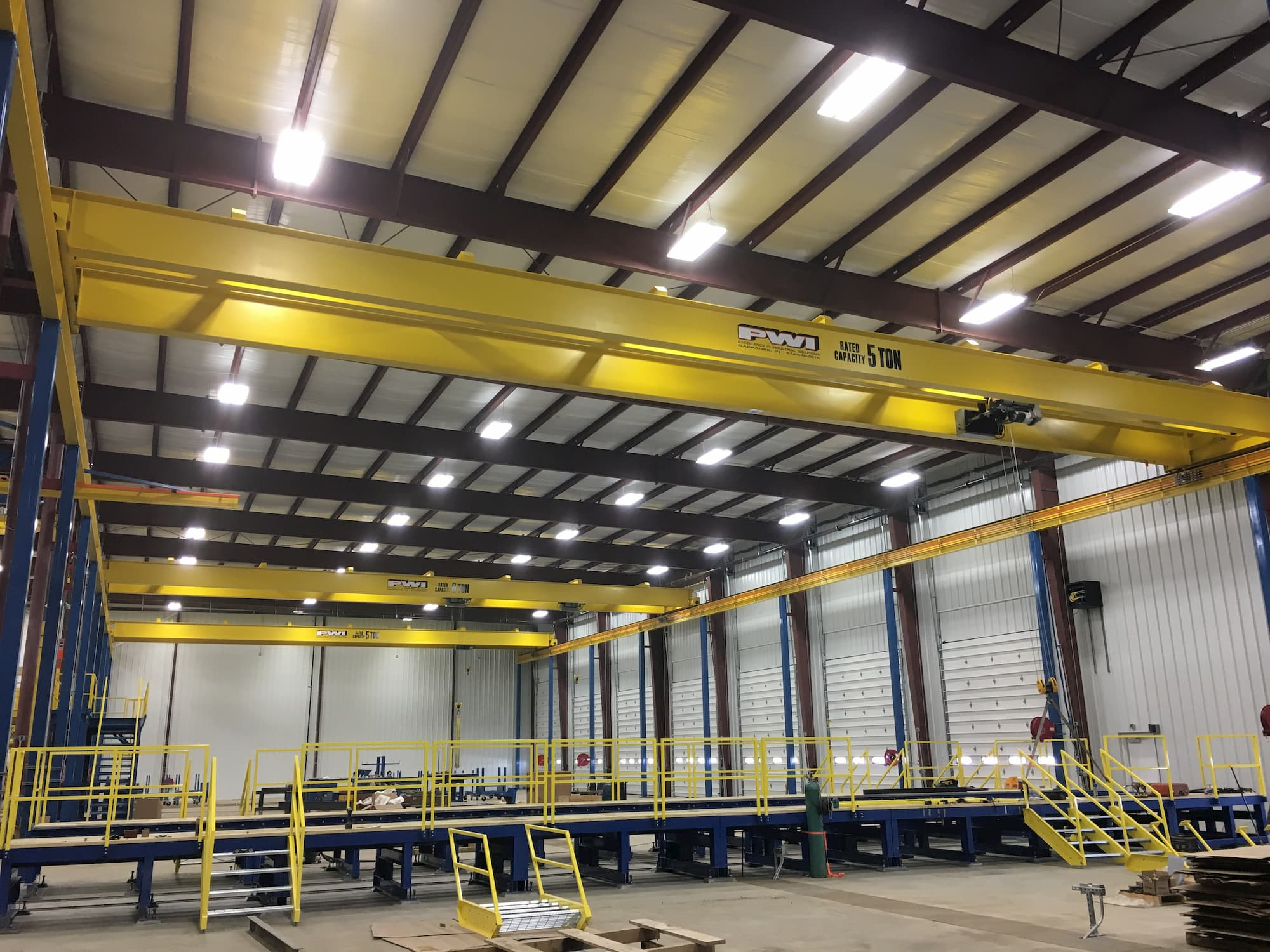 Overhead Crane in Assembly Line