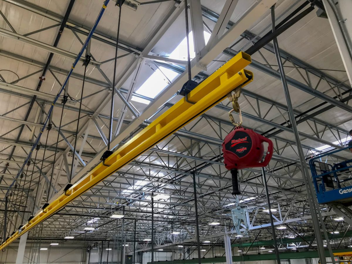 Rigid Track Fall Protection System