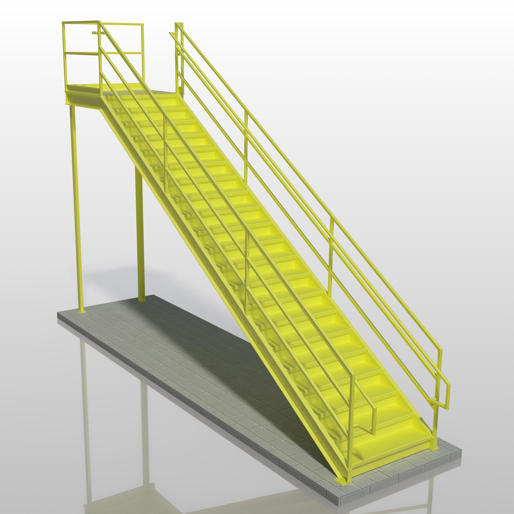 3 Rail Inner Handrail Stair