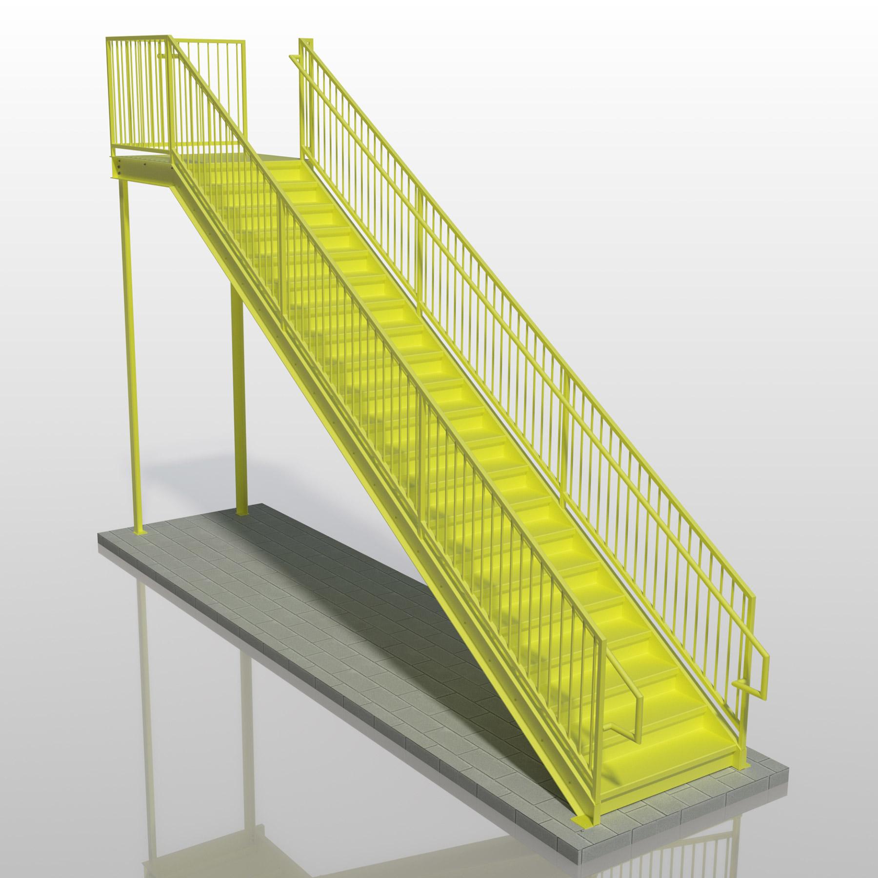Balusters Inner Handrail Stair